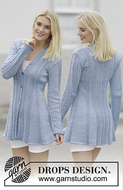 Ravelry: 161-1 Blue Bird Song pattern by DROPS design                                                                                                                                                                                 More