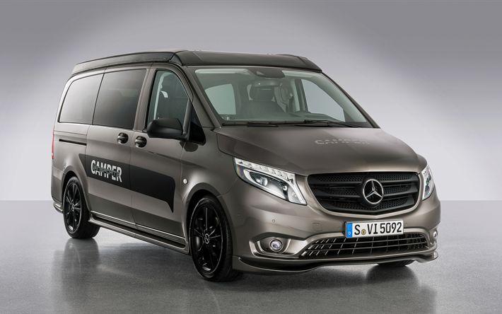 Download imagens Hartmann, ajuste, 4k, Mercedes-Benz Vito, vans, Mercedes
