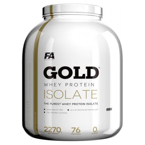 FA Nutrition Gold Whey Protein Isolate 2270 gr. ЦЕНА:90ЛВ FA Nutrition Gold Whey Protein Isolate представлява ултрафилтриран суроватъчен протеин изолат, който се усвоява максимално бързо от организма, без да натоварва храносмилателната система.