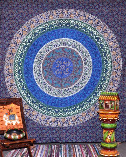 indian mandala tapestry hippie wall hanging throw bohemian bedspread