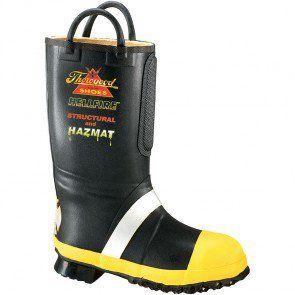807-6001 Thorogood Men's HELLFIRE Rubber Boots - Black www.bootbay.com