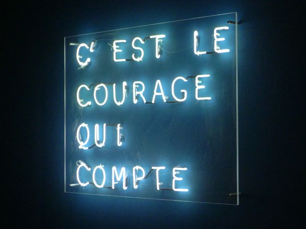 it's the courage that counts