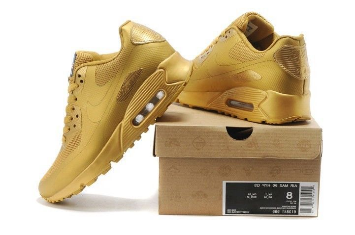 NIKE AIR MAX 90 HYPERFUSE INDEPENDENCE DAY. RARE GOLD EDITION. SALE. UK 9