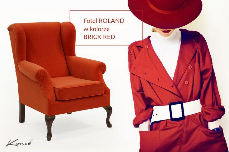 Fotel Roland- Red Brick Inspiracja najmodniejszymi trendami z wybiegów mody. Ekscytująca i dynamiczna czerwień. Fotel Roland w kolorze BRICK RED.