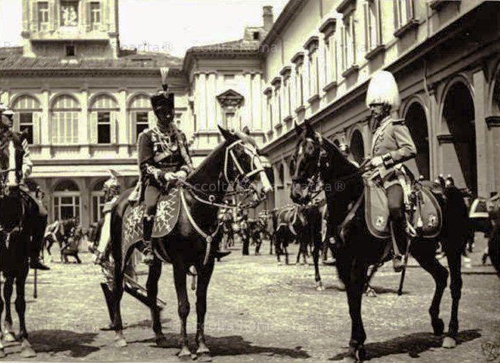 Roma Sparita - Palazzo del QuirinaleIl principe Enrico di Prussia a cavallo per la parata in onoere delle nozze di argento della regina Margherita