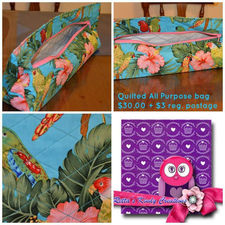 Quilted All Purpose Bag made and designed by Retta's Kindy Creations