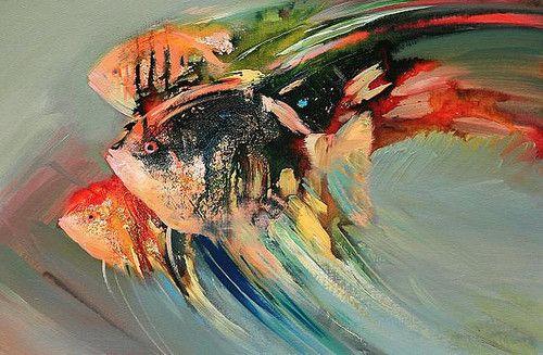 fishAbstract Paintings, Fish Painting
