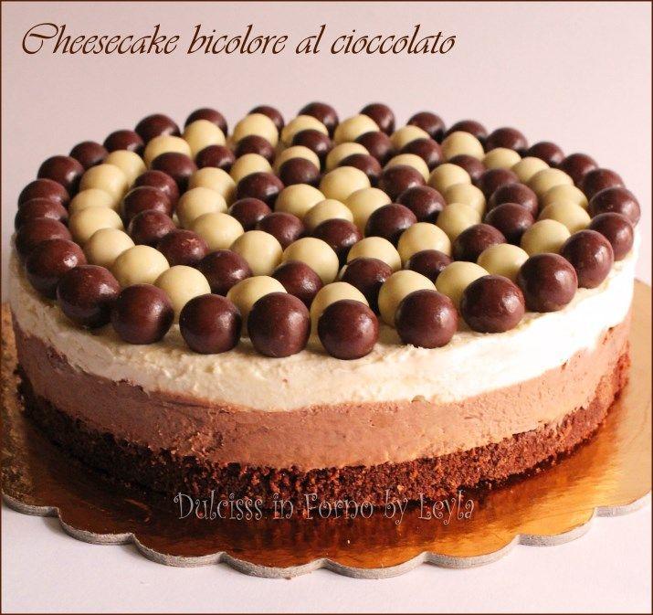 Cheesecake al cioccolato bianco e nero