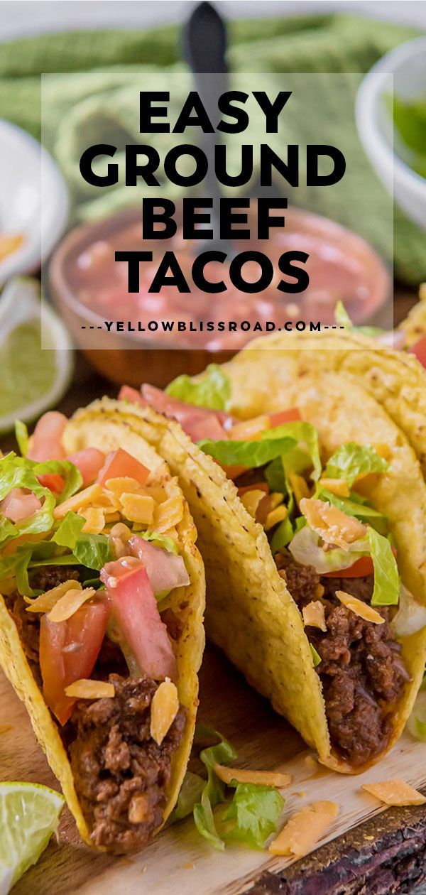 The Best Ground Beef Tacos Yellowblissroad Com Recipe In 2020 Tacos Beef Ground Beef Tacos Ground Beef