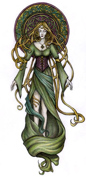 1/4 Sleeve idea?  Image detail for -Celtic Goddess, Janne Navanna Eikeblad, SciFi Fantasy Art