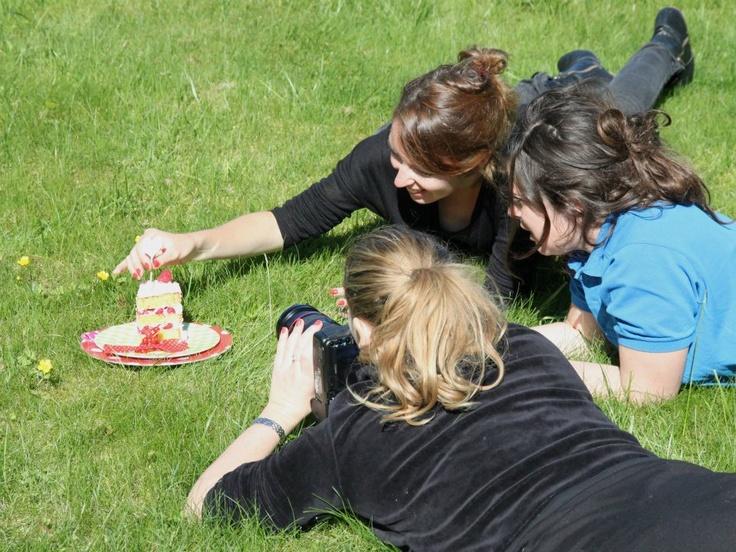 Les coulisses - Coffee Time sur l'herbe avec Chloé. S