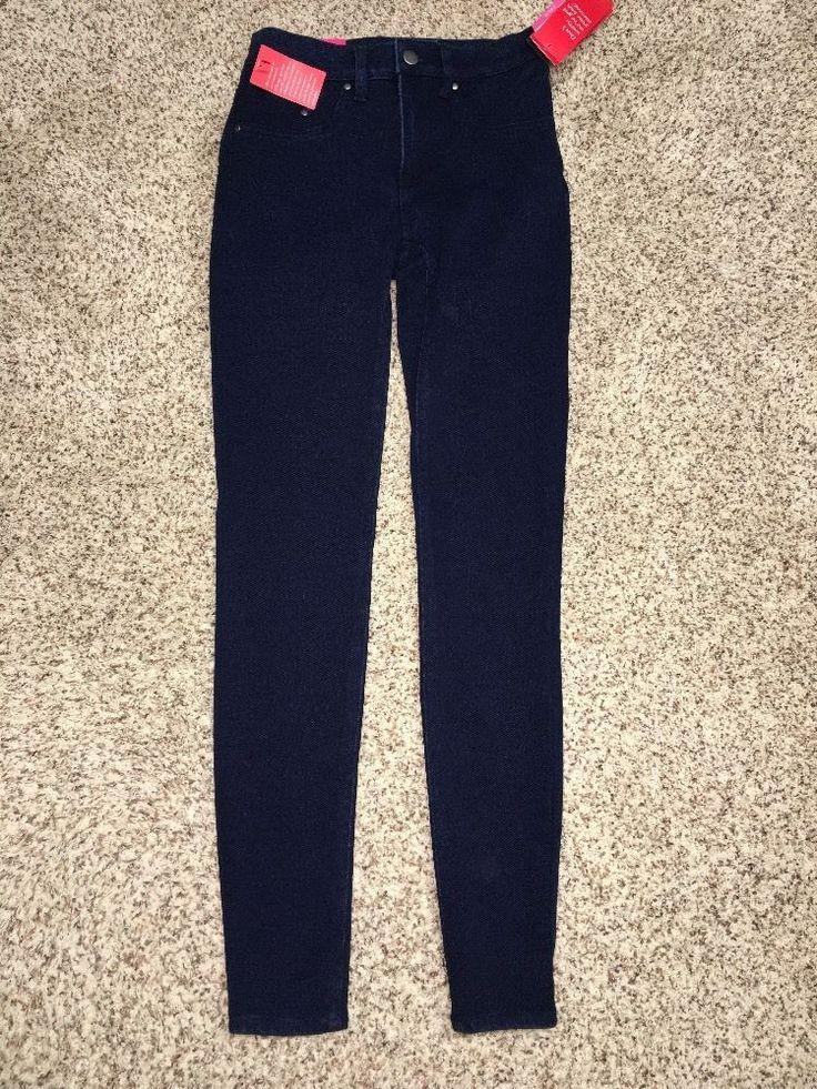 Spanx Jeans The Slim-X Super Skinny Womens Size 25 Indigo Rinse 0114 Nwt $128