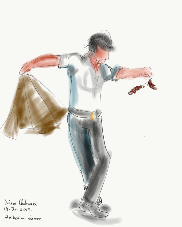 Zeibekiko dancer. A mystical and Ancient Greek ecstasy.