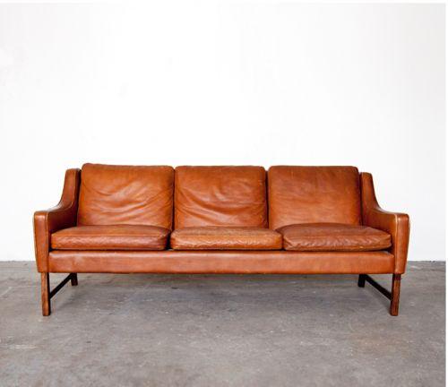 borge m. leather sofa