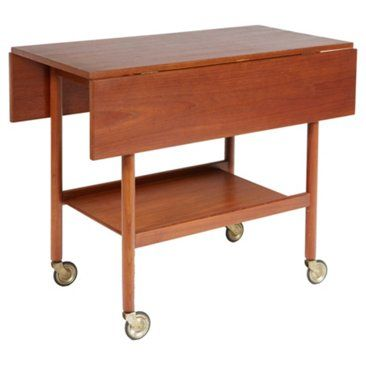 Check out this item at One Kings Lane! Danish Rolling Cart by Hans Wegner