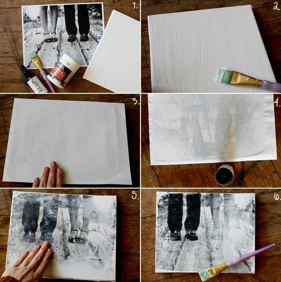How to transfer a photo onto canvas! - Click image to find more DIY & Crafts Pinterest pins