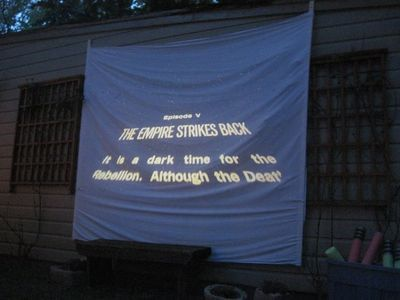 An outdoor screening of The Empire Strikes Back.