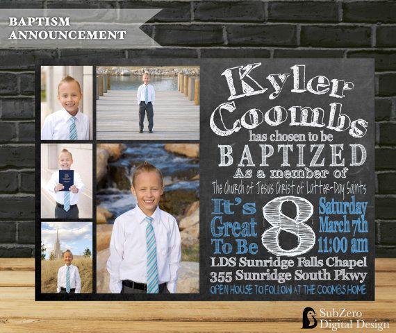 LDS Baptism Invitation LDS Boys Baptism by SubZeroDigitalDesign
