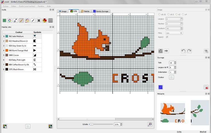 Articles : Crosti, un logiciel de point de croix gratuit et en français