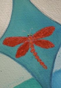 red dragonfly - detail from a Personal Compass Mandala