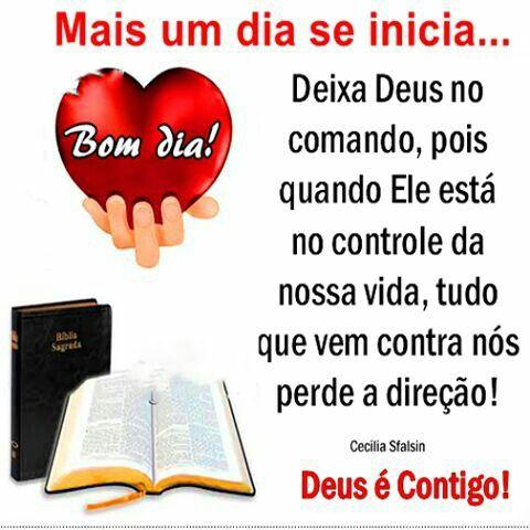 Deus é contigo.