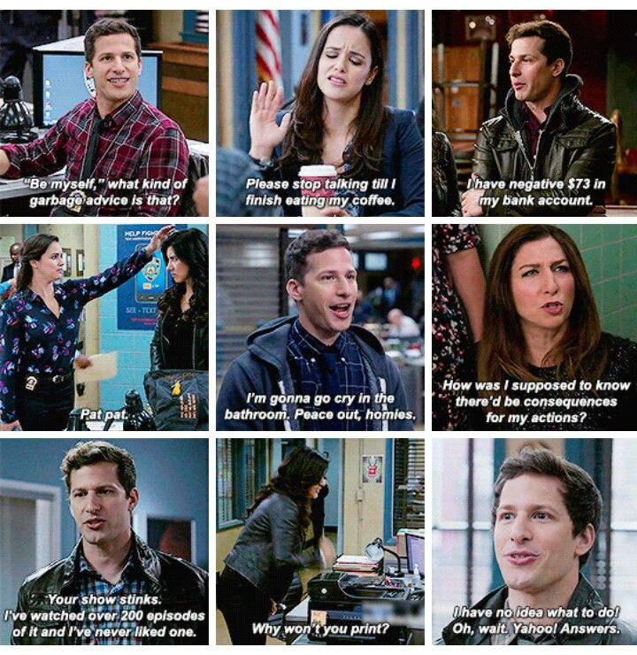 These are the type of people I aspire to... Brooklyn nine-nine