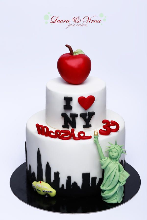 I Love New York Cake By Sisters Laura And Virna Just Cakes In Catania Sicily Italy