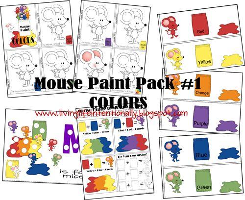 Mouse Paint Tot/Preschool Pack (free)