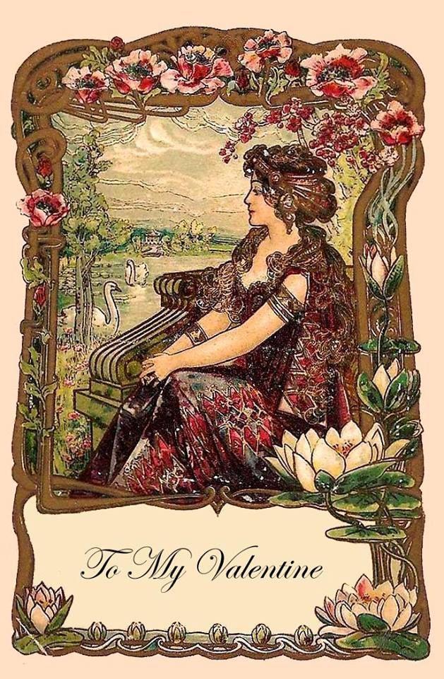 456 best Valentine images – Vintage Valentine Cards to Print