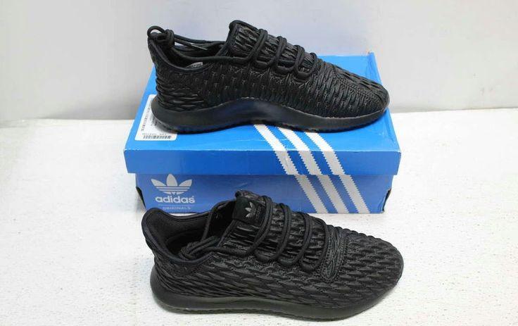 Adidas Size 9.5 Men's Black Tubular Shadow Running Shoe BB8819