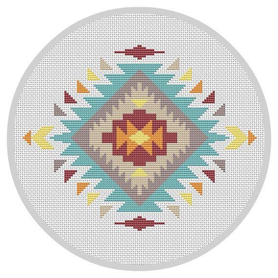 Modern cross stitch pattern Navajo cross stitch Indian от Xrestyk