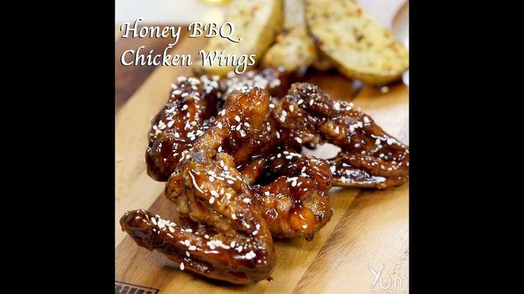 Honey BBQ Chicken Wings | Honey BBQ Chicken Wings recipe | honey bbq wings
