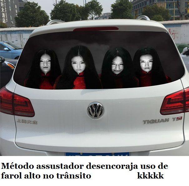 Método assustador desencoraja uso de farol alto no trânsito :: Serginho-sucesso