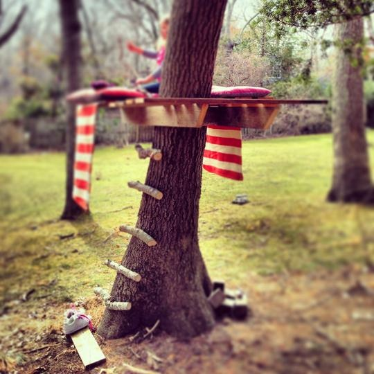 Build a super-simple tree house. // 31 DIY Ways To Make Your Backyard Awesome This Summer
