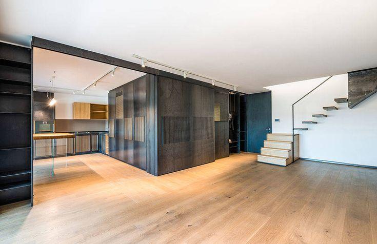Idee, ispirazione ed emozioni attraverso l'architettura. Le soluzioni #Scrigno inserite nell'appartamento Casa al Portonaccio realizzato da Nicola Auciello, @na3.studio.di.architettura #design #architetti #idea #ispirazione #interiordesign #Roma #house