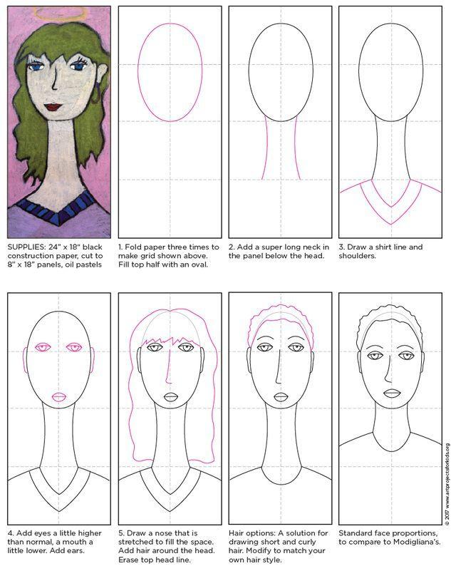 Modigliani Self Portrait Tutorial | Art Projects for Kids | Bloglovin'