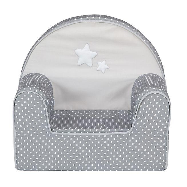 Doux Rêve Fauteuil club gris et blanc pour enfant