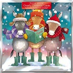 Paperhouse Charity Christmas Cards - Donkey Carols Cards - Sold In Support of British Heart Foundation, Age UK, Tenovus, Motor Neurone Disease, NSPCC and Diabetes UK ... by GBCC
