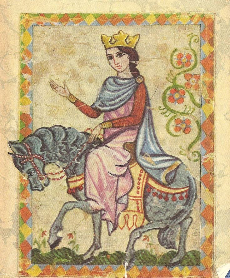 Eleanor of Aquitaine, wife of two kings: Louis VII of France & Henry II of England, mother of two more: Richard the Lionhearted & Nasty King John (yes, that's his official title, in my book, anyway); she went on a Crusade with Louis & ruled England temporarily in Richard's absence in the Holy Land.