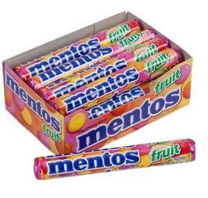 Mentos Candy Rolls - Fruit: 15-Piece Box