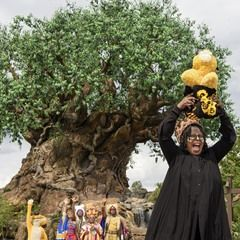 """Whoopi Goldberg and cast of """"Festival of the Lion King"""" in Disney's Animal Kingdom (328466)"""