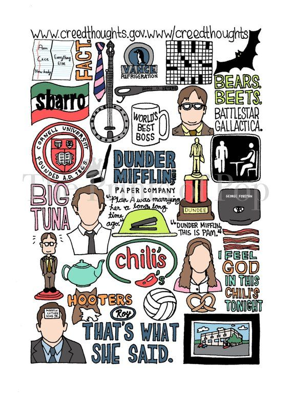The Office TV Collage Print FREE SHIPPING The office