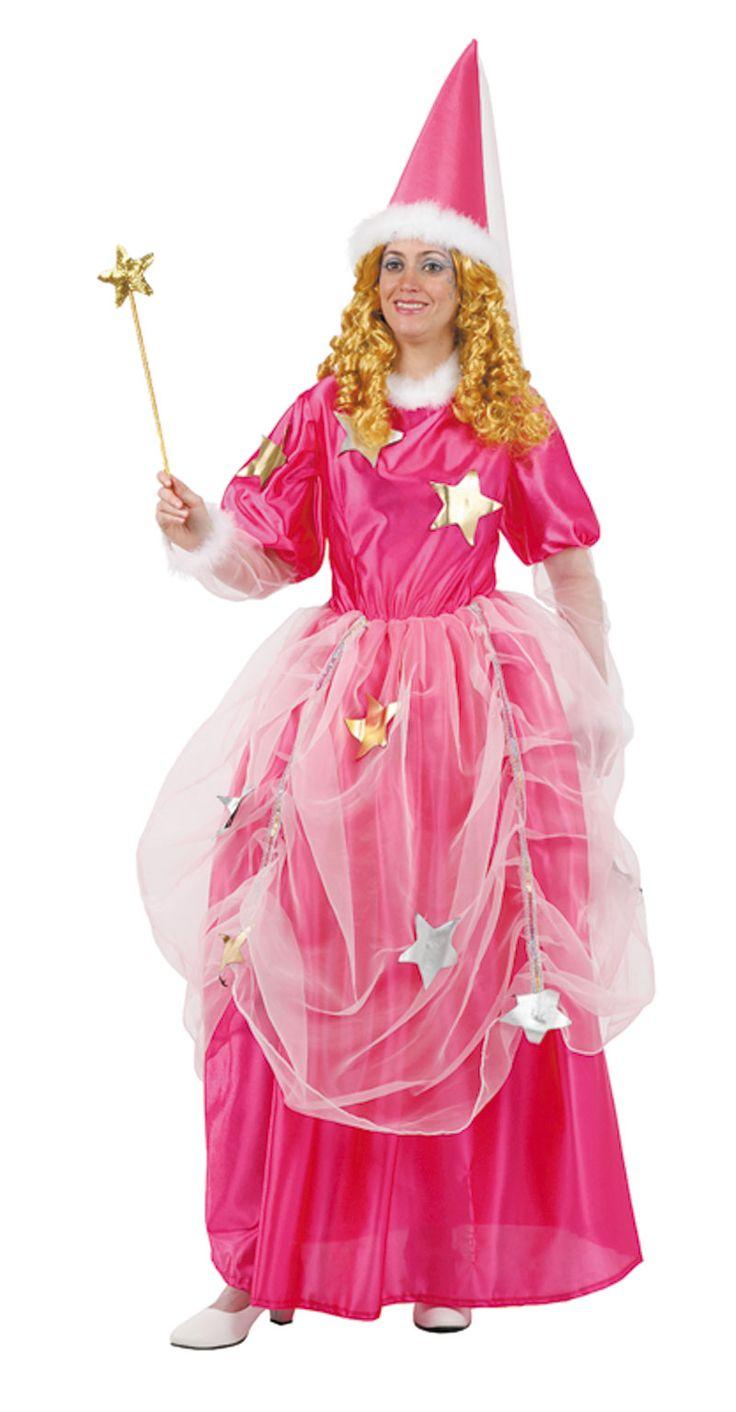 DisfracesMimo, disfraz de hada madrina para mujer talla m/l. Compra tu disfraz barato mujer adulto para tu grupo. Este traje es ideal para tus fiestas temáticas de hada de cuento.