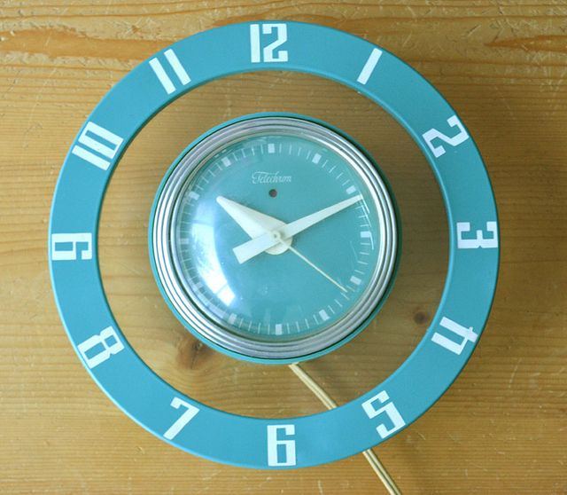 The Kitschy Collectors favorites in vintage kitchen collectibles.  Visit my blog http://cdiannezweig.blogspot.com/ and my site http://iantiqueonline.ning.com/     Vintage* Telechron Clock :) by ilovehesby, via Flickr