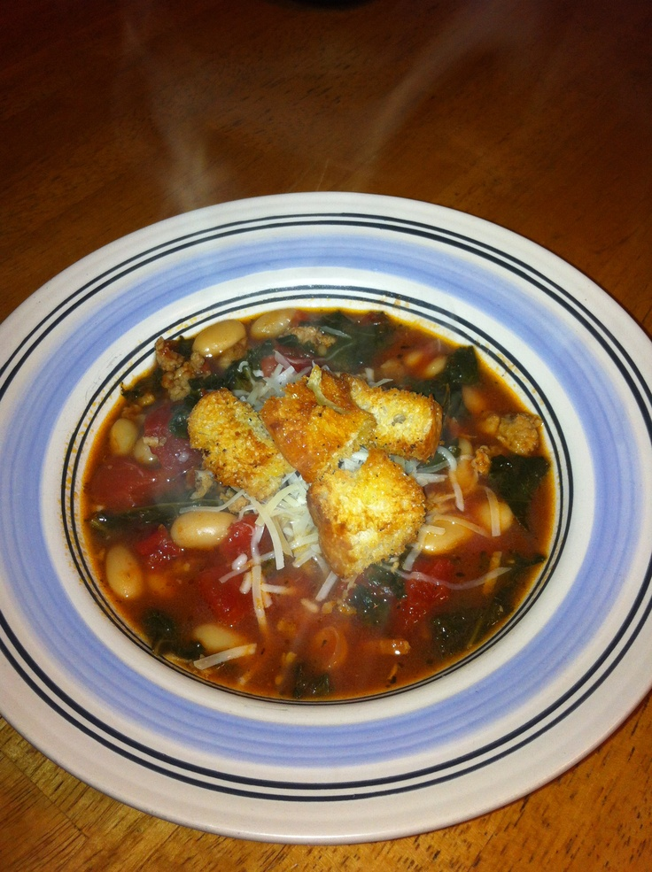 Italian Cannellini bean soup with Kale | Recipes | Pinterest