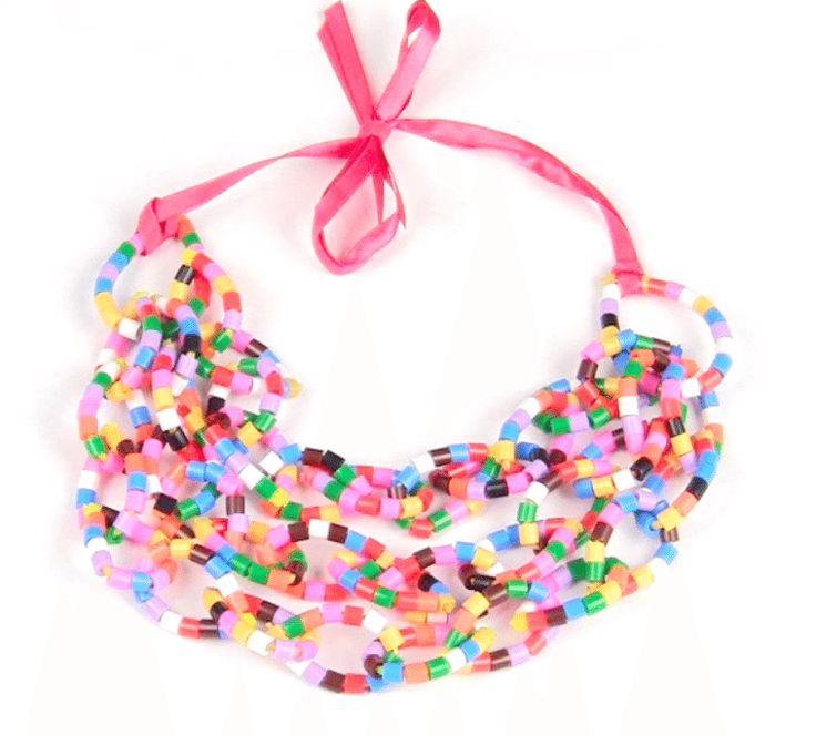 В этом мастер-классе с простой схемой предлагаем вам сделать вот такое яркое летнее ожерелье из бисера в ожидании теплых дней.