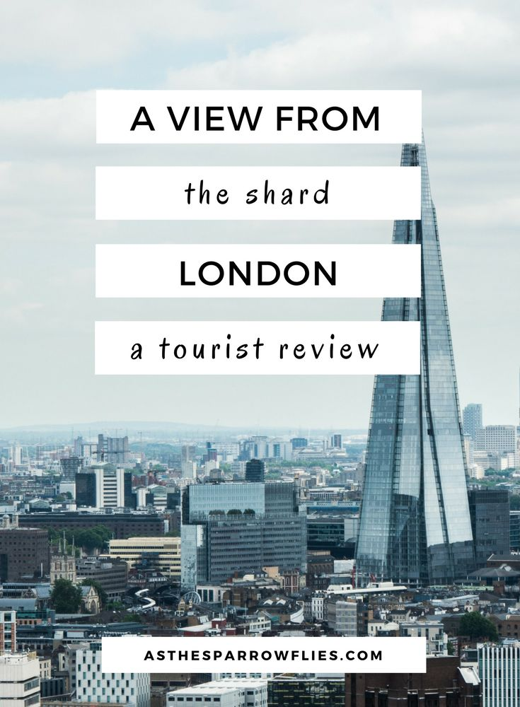 A View From The Shard London. UK Tourist Attraction Review