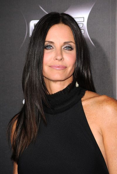 Courteney Cox's Long Straight Cut - Haute Hairstyles for Women Over 40 - Photos