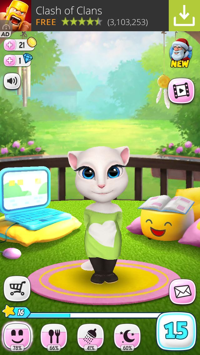 My talking Angela named Cookie