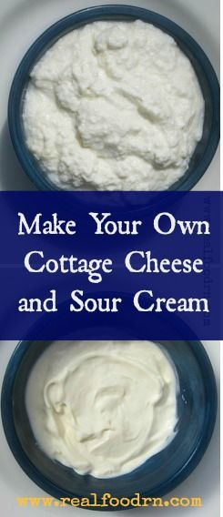Learn how to make your own homemade cottage cheese, sour cream, and whey (to lacto-ferment your foods) all from one gallon of milk. It's easier than you think! #rawmilk